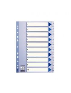 Esselte 100135 hakemisto Numeroitu välilehtihakemisto Polypropeeni (PP) Sininen, Valkoinen Esselte 100135 - 1