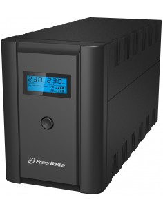 PowerWalker VI 2200 LCD/IEC Linjainteraktiivinen VA 1200 W 6 AC-pistorasia(a) Bluewalker 10120094 - 1