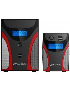PowerWalker VI 650 GX Linjainteraktiivinen VA 360 W 2 AC-pistorasia(a) Bluewalker 10121042 - 1