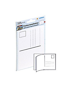 HERMA Post card labels 95x145mm white 10 pcs. liimaetiketti kpl Herma 7758 - 1