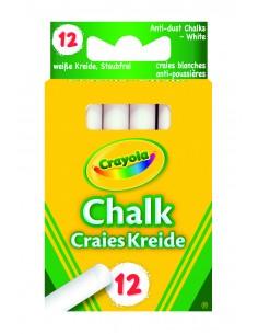 Crayola 12 white Chalks Valkoinen kpl Crayola 8600068 - 1