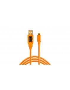 Tether Tools CU5430ORG USB-kaapeli 4.6 m 2.0 USB A Micro-USB B Oranssi Tether Tools CU5430ORG - 1