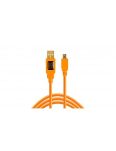 Tether Tools CU5451 USB-kaapeli 4.6 m 2.0 USB A Mini-USB B Oranssi Tether Tools CU5451 - 1