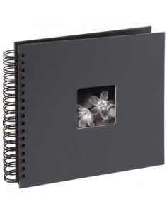 "Hama ""Fine Art"" Spiral Album, grey, 26x24/50 photo album 10 x 15. 13 18 Hama 94879 - 1"