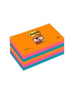 3M 655-6SS-EG itseliimautuva muistilappu Neliö Sininen, Oranssi, Vaaleanpunainen 3m 7100041857 - 1