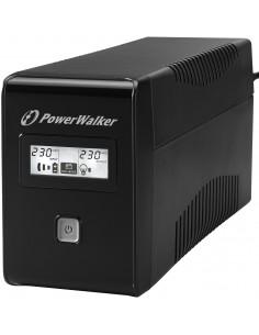 PowerWalker VI 650 LCD UPS-virtalähde VA 360 W 2 AC-pistorasia(a) Bluewalker 10120016 - 1