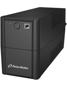 PowerWalker VI 650 SE UPS-virtalähde Linjainteraktiivinen VA 360 W 2 AC-pistorasia(a) Bluewalker 10120048 - 1