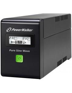 PowerWalker VI 800 SW Linjainteraktiivinen VA 480 W 2 AC-pistorasia(a) Bluewalker 10120080 - 1