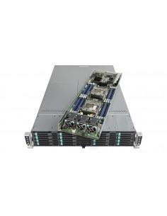 Intel VRN2224THY2 server barebone Intel® C612 LGA 2011-v3 Rack (2U) Black, Silver Intel VRN2224THY2 - 1