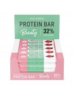 Kollageeni Protein Bar - Vadelma 24 x 30 g proteiinipatukka Puhdistamo KPV30X24 - 1