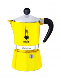 Bialetti Rainbow Mokkapannu Alumiini, Musta, Keltainen Bialetti 4982 - 1