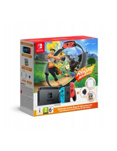 "Nintendo Switch HW + Ring Fit Adventure (Limited) kannettava pelikonsoli 15.8 cm (6.2"") 32 GB Wi-Fi Musta, Sininen, Punainen Nin"