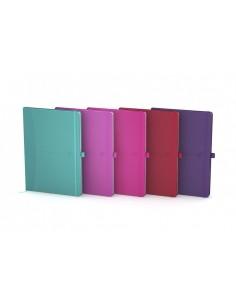 Oxford 100735212 muistikirja A5 Ruskea, Harmaa, Purppura, Vaaleanpunainen, Violetti, Fuksianpunainen, Sininen, Punainen, Musta O