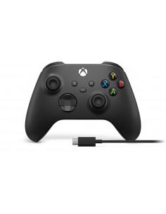 Microsoft Xbox Wireless Controller + USB-C Cable Svart Spelplatta Analog / Digital PC, One, One S, X, Series X Microsoft 1V8-000