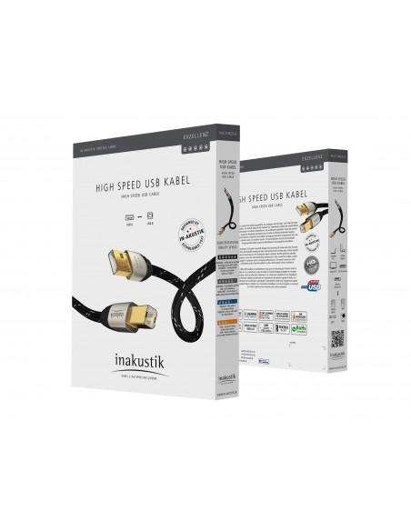 Inakustik 00670001 USB-kaapeli 1 m USB 2.0 A B Musta In - Akustik 00670001 - 2