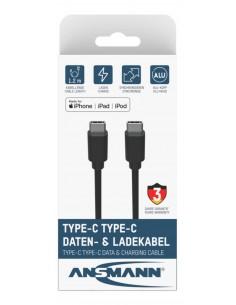 Ansmann 1700-0121 USB-kaapeli 0.12 m USB C Musta Ansmann 1700-0121 - 1