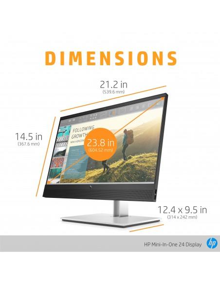 """HP Mini-in-One 24 60.5 cm (23.8"""") 1920 x 1080 pikseliä Full HD LED Musta Hp 7AX23AA#ABB - 9"""