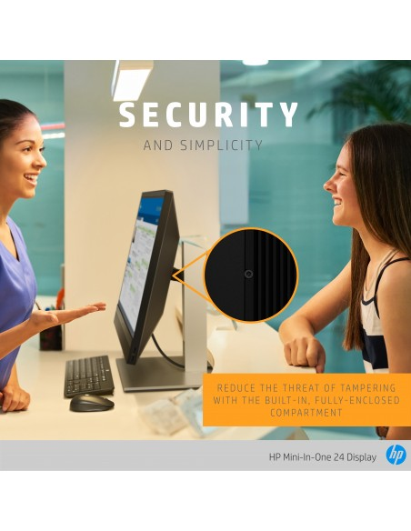 """HP Mini-in-One 24 60.5 cm (23.8"""") 1920 x 1080 pixlar Full HD LED Svart Hp 7AX23AA#ABB - 12"""