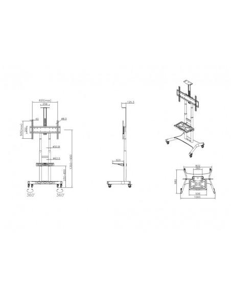 Multibrackets M Public Floorstand Basic 180 incl shelf & camera holder Multibrackets 7350073734627 - 24