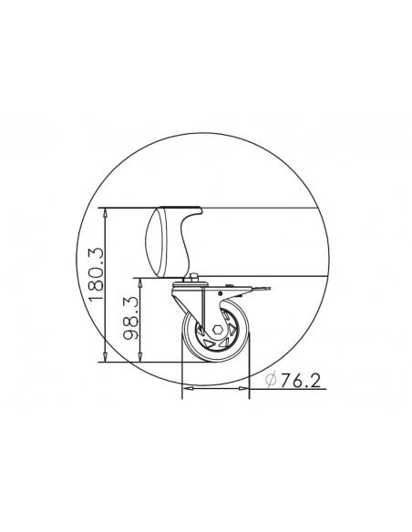 """Multibrackets 4627 fäste för skyltningsskärm 2.03 m (80"""") Svart Multibrackets 7350073734627 - 25"""