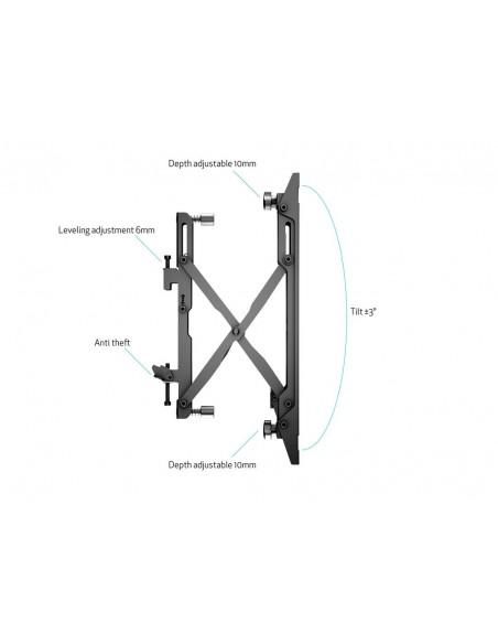 """Multibrackets 4726 kyltin näyttökiinnike 165.1 cm (65"""") Musta Multibrackets 7350073734726 - 15"""