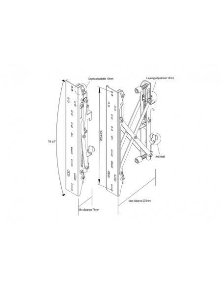"""Multibrackets 4726 fäste för skyltningsskärm 165.1 cm (65"""") Svart Multibrackets 7350073734726 - 20"""
