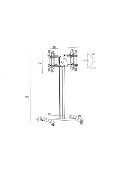 """Multibrackets 5990 kyltin näyttökiinnike 2.03 m (80"""") Hopea Multibrackets 7350073735990 - 23"""