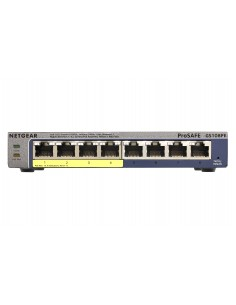 Netgear GS108PE hanterad Gigabit Ethernet (10/100/1000) Strömförsörjning via (PoE) stöd Svart Netgear GS108PE-300EUS - 1