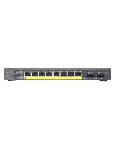 Netgear GS110TP hanterad Gigabit Ethernet (10/100/1000) Strömförsörjning via (PoE) stöd Svart Netgear GS110TP-200EUS - 1