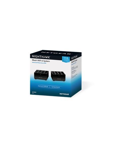 Netgear MK62-100PES verkkolaajennin Verkkolähetin ja -vastaanotin Musta 10. 100. 1000 Mbit/s Netgear MK62-100PES - 7