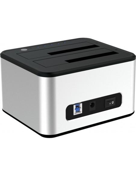 Sandberg USB 3.0 Hard Disk Cloner 3.2 Gen 1 (3.1 1) Type-B Silver, White Sandberg 133-74 - 2