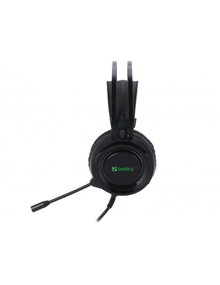 Sandberg 126-22 kuulokkeet ja kuulokemikrofoni Pääpanta 3.5 mm liitin Musta Sandberg 126-22 - 3