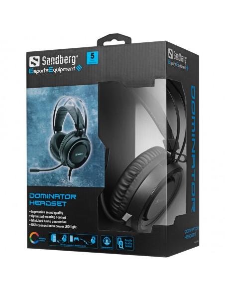 Sandberg 126-22 kuulokkeet ja kuulokemikrofoni Pääpanta 3.5 mm liitin Musta Sandberg 126-22 - 5