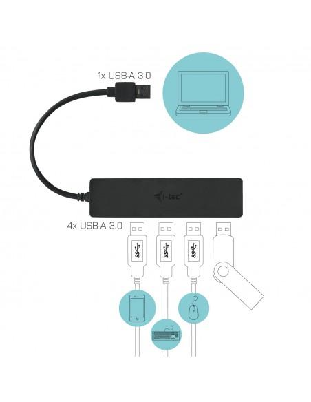 i-tec Advance U3HUB404 keskitin USB 3.2 Gen 1 (3.1 1) Type-A 5000 Mbit/s Musta I-tec Accessories U3HUB404 - 4