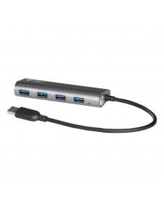 i-tec Metal U3HUB448 gränssnittshubbar USB 3.2 Gen 1 (3.1 1) Type-A 5000 Mbit/s Grå I-tec Accessories U3HUB448 - 1