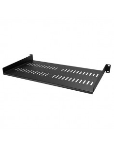 "StarTech.com 1U Vented Server Rack Cabinet Shelf - 10in Deep Fixed Cantilever Tray Rackmount for 19"" AV/Data/Network Equipment S"