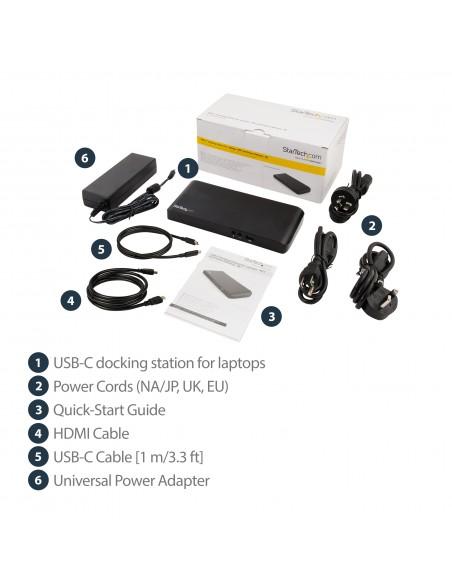 StarTech.com MST30C2DPPD kannettavien tietokoneiden telakka ja porttitoistin Langallinen USB 3.2 Gen 1 (3.1 1) Type-C Musta Star