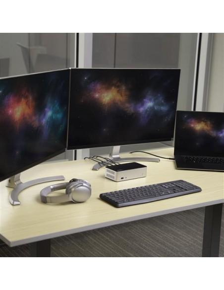 StarTech.com USB-C-dockningsstation för dubbla skärmar Windows med 2.5 tums SATA SSD/HDD-hårddiskfack Startech MST30C2HDPPD - 6