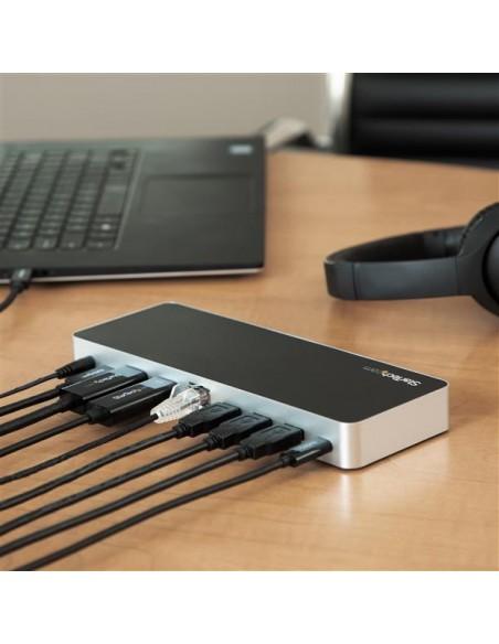 StarTech.com USB-C-docka med dubbla skärmar och MST - 5x USB 3.0-portar Startech MST30C2HHPDU - 7