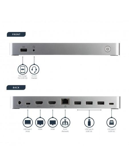 StarTech.com USB-C-docka med dubbla skärmar och MST - 5x USB 3.0-portar Startech MST30C2HHPDU - 12
