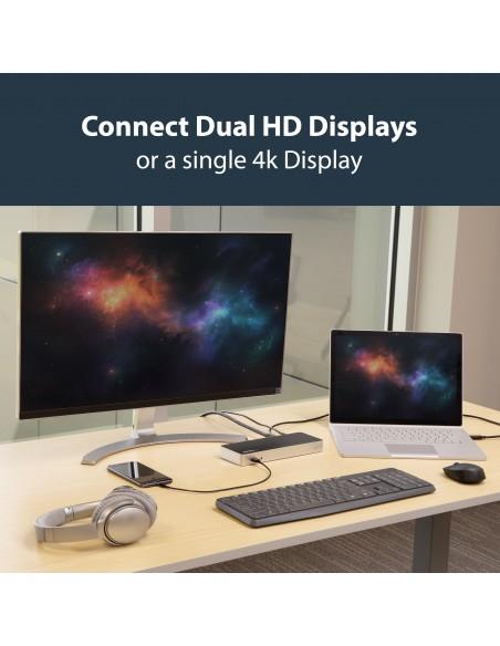 StarTech.com USB-C-docka med dubbla skärmar och MST - 5x USB 3.0-portar Startech MST30C2HHPDU - 13
