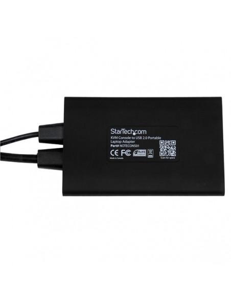 StarTech.com KVM-enhet till USB 2.0 akutvagn-adapter för bärbara datorer Startech NOTECONS01 - 4