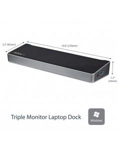 StarTech.com USB3DOCKH2DP kannettavien tietokoneiden telakka ja porttitoistin Langallinen USB 3.2 Gen 1 (3.1 1) Type-A Musta Sta