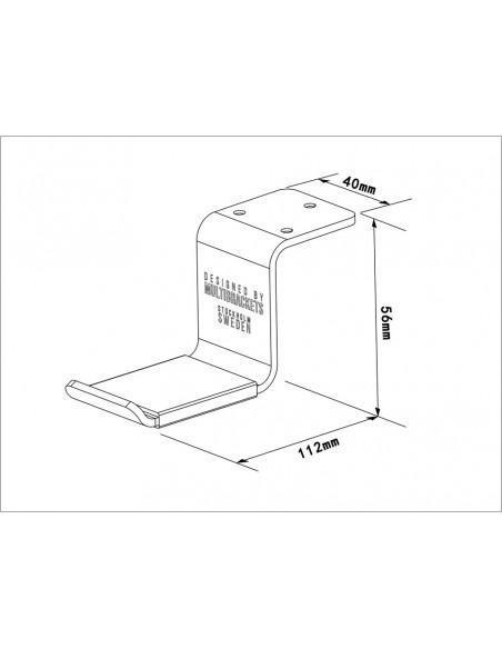 Multibrackets 1855 kuulokkeiden lisävaruste Kuulokepidike Multibrackets 7350073731855 - 5