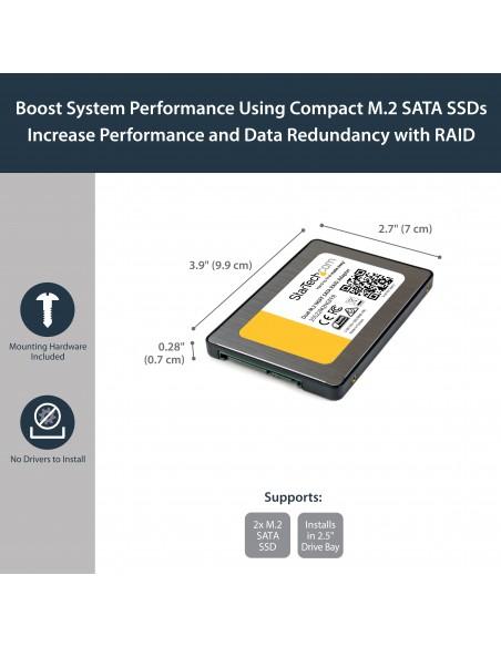 StarTech.com Dual M.2 NGFF SATA Adapter with RAID Startech 25S22M2NGFFR - 5