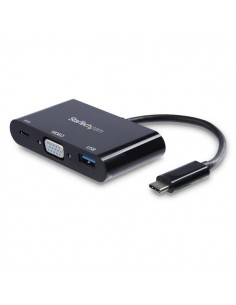 StarTech.com USB-C to VGA Multifunction Adapter with Power Delivery and USB-A Port Startech CDP2VGAUACP - 1