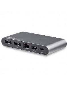 StarTech.com USB C Dock - 4K Dual Monitor DisplayPort Mini Laptop Docking Station 100W Power Delivery Passthrough GbE Startech D