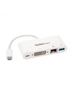 StarTech.com USB-C-multiportadapter för bärbara datorer - strömförsörjning DVI GbE USB 3.0 Startech DKT30CDVPD - 1