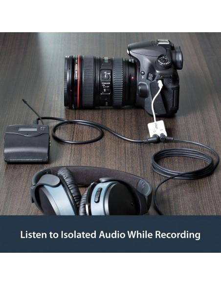 StarTech.com White Slim Mini Jack Headphone Splitter Cable Adapter - 3.5mm Male to 2x Female Startech MUY1MFFADPW - 7