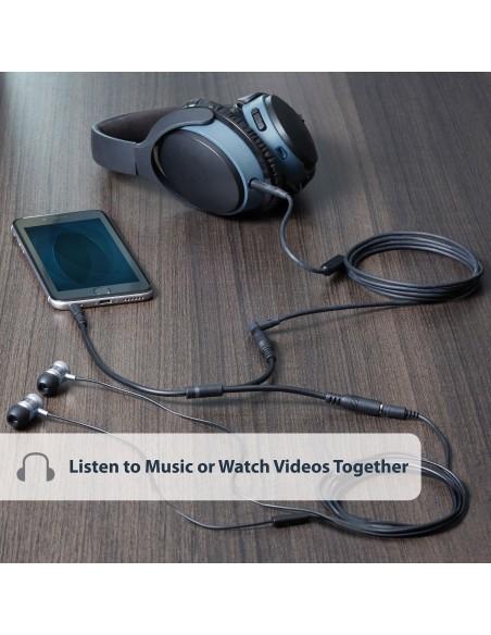 StarTech.com Slim stereosplitterkabel - 3.5 mm hane till 2x hona Startech MUY1MFFS - 5
